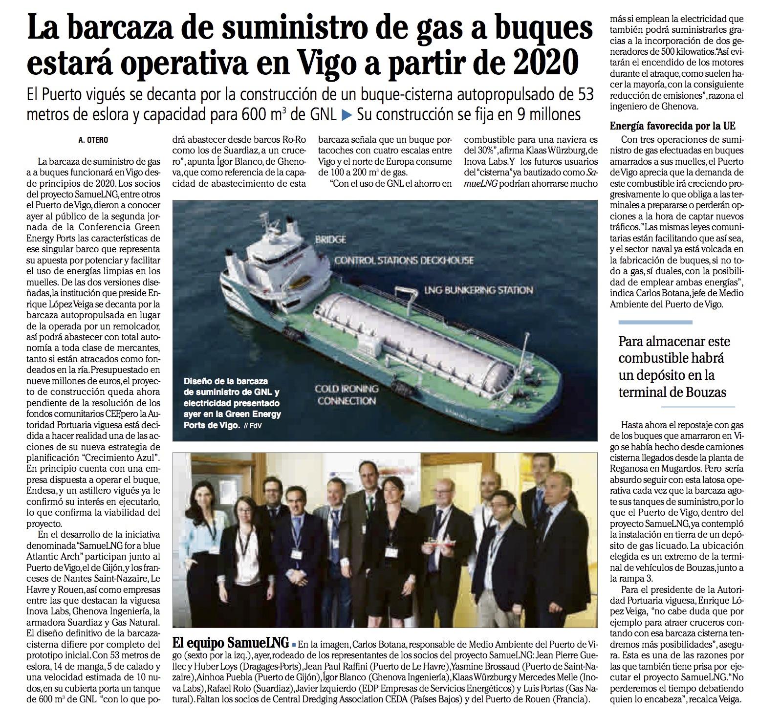 Inova labs GNL Faro de Vigo